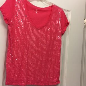 3 for $15 NY & Co Sequin t shirt LARGE